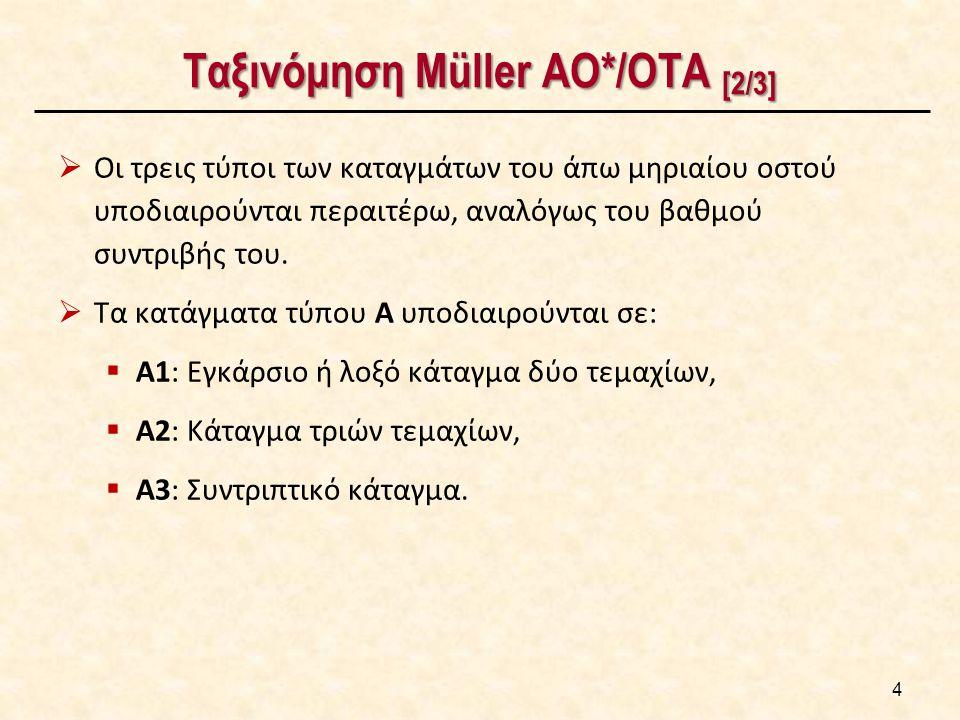 Ταξινόμηση Müller AO/ΟΤΑ [3/3]